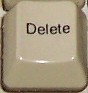 Delete key - Delete key on PC keyboard