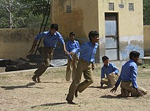 Kho Kho game at a Government school in Haryana, India.jpg