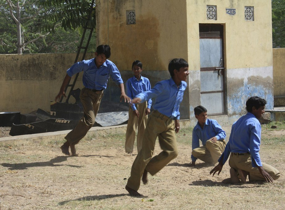 Kho Kho game at a Government school in Haryana, India