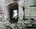 Kilbirnie Place - a window in the keep and fireplace section.JPG