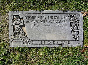 Dorothy Kilgallen - The footstone of Dorothy Kilgallen in Gate of Heaven Cemetery