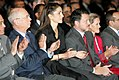 King Abdullah, Queen Rania, Klaus Schwab, Hilde Schwab - World Economic Forum on the Middle East Dead Sea Jordan 2007.jpg