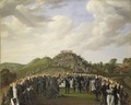 King Carl XIV Johan Visiting the Mounds at Old Uppsala in 1834 (Johan Way) - Nationalmuseum - 21863.tif