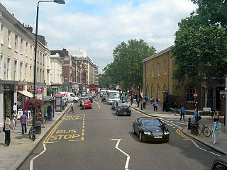 major street stretching through Chelsea and Fulham in west London, England