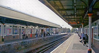 Kingston railway station (England) - Kingston station, 2007.