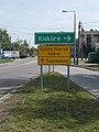 Kisköre Tisza Bridge closed sign, 2019 Heves.jpg