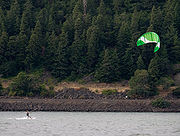 Kitesurfing in the Columbia River Gorge