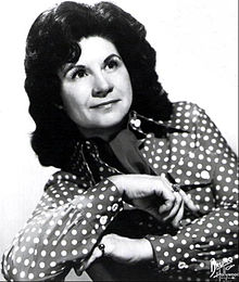 1974 publicity shot of Kitty Wells