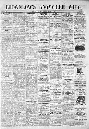 Brownlow's Whig - Image: Knoxville whig 10 2 1867 1