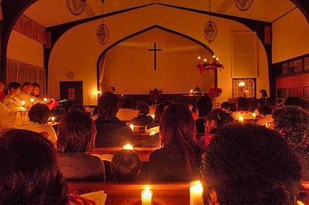 日本のキリスト教教会(日本基督教団甲南教会)のクリスマス讃美礼拝、2010年
