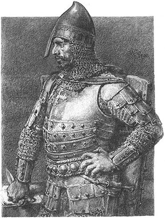 Konrad I of Masovia - 19th century drawing by Jan Matejko