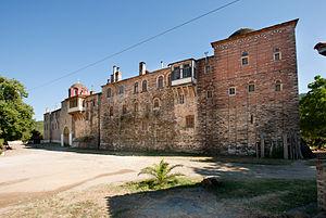 Konstamonitou Monastery - External view of the monastery.