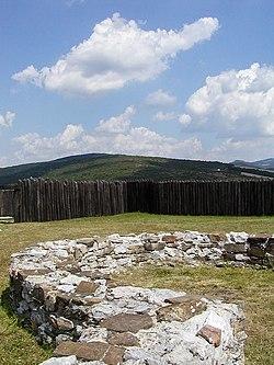 Ruins of a Great Moravian castle in Ducové