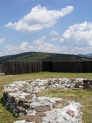 Svatopluk I of Moravia - The ruins of a Moravian fort on Kostolec Hill at Ducové (Slovakia)