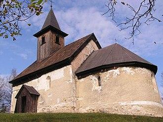 Kšinná - A Romanesque church from the 13th century