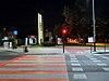 Kraków - Al. Pokoju i ul. Centralna - przejście dla pieszych i przejazd rowerowy nocą - DSC08256 v1.jpg