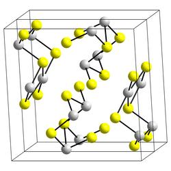 Kristallstruktur von Bismut(III)-sulfid