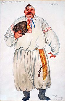 Kum from The Fair at Sorochyntsi (Mussorgsky) by Kustodiev (1919, priv.coll).jpg