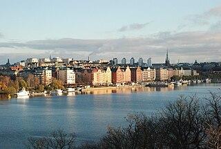 Kungsholmen island in the Lake Mälaren in Stockholm, Sweden