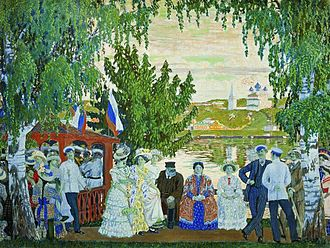 Boris Kustodiev - Image: Kustodiev promenade Volga 02
