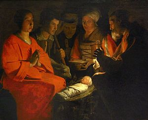 Nativity of Jesus in art - Georges de La Tour c. 1644