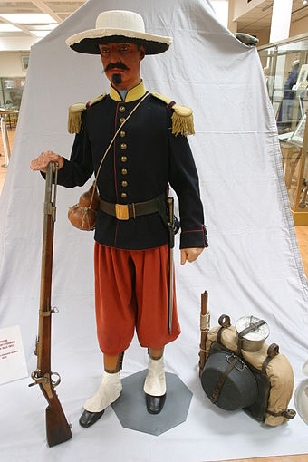Uniform of a legionnaire during the 1863 Mexican campaign Legionnaire-Mexique.JPG