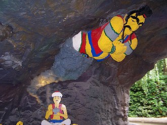 Jinn - Aladdin and the genie in Legoland Windsor.