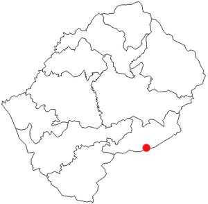 Qacha's Nek - Location of Qacha's Nek in Lesotho