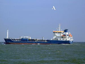 LS Eva p2 leaving Port of Rotterdam, Holland 19-Apr-2007.jpg