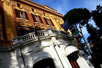Libera Università Internazionale degli Studi Sociali Guido Carli - Front of the Palazzina at Viale Pola – Rector's office