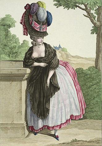 Pouf - Illustration by Claude-Louis Desrais (1778).