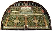 La villa in una lunetta di Giusto Utens (1599)