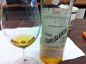 Sauternes (wine) - A Sauternes from La Tour Blanche which was classified in 1855 as Premier Cru