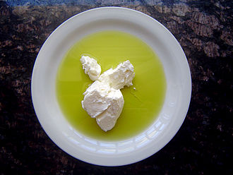 Strained yogurt - Strained yogurt with olive oil
