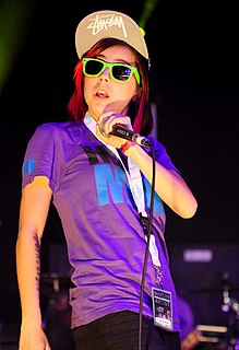 Lady Sovereign English rapper and grime artist