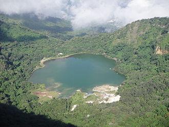 """Tourism in El Salvador - Alegría Lake """"The Emerald of America""""."""