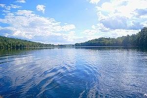 Kittatinny Valley State Park - Lake Aeroflex in summer.