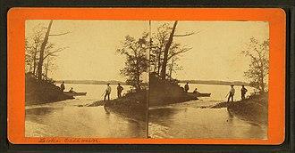 Bde Maka Ska - Stereoscopic image of Lake Calhoun by Benjamin Franklin Upton