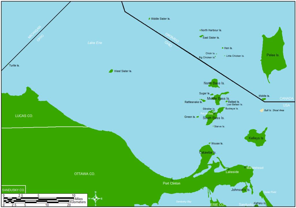 Lake Erie Islands Map