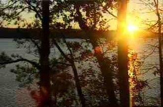Coosa River - Sunset Over Lake Jordan Near Weoka Creek, 1996.
