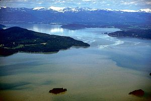 Lake Pend Oreille - Aerial view