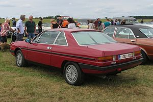 Lancia Gamma - Image: Lancia Gamma Coupé rear three quarters