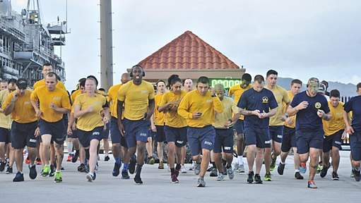 Land Sailors participate in LGBT pride month 5k run 170629-N-YJ133-057