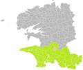 Landudal (Finistère) dans son Arrondissement.png