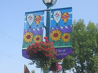 Langley, British Columbia (city) - Street banners in Langley's commercial district
