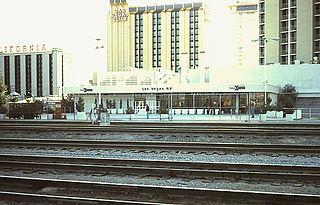 Las Vegas station (Nevada) former passenger railroad station in Las Vegas, Nevada