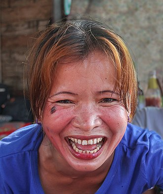Laughter - Woman laughing in Laos