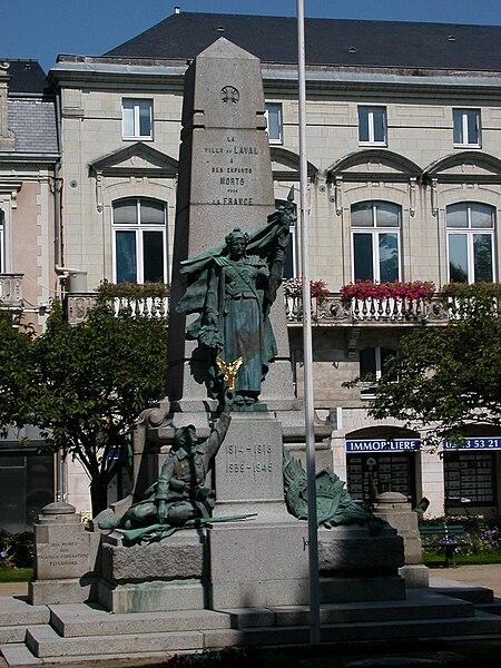 War memorial of Laval (Mayenne)
