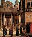 Lazzaro bastiani, Relic of the Holy Cross is offered to the Scuola Grande di San Giovanni Evangelista 03.jpg