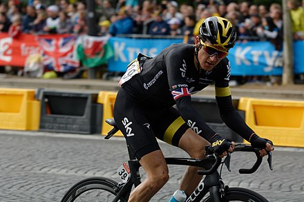 Thomas on the final stage of the 2015 Tour de France f06d2b546